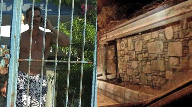 murat basoglu2 - Öz yeğeni ile skandal ilişki yaşayan Murat Başoğlu şimdi ne yapıyor? Başoğlu, evinin etrafına kule duvarları ördürdü!