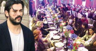 Burak Özçivit'in 80 kadınla yemek yemesi tepkide aldı destekte