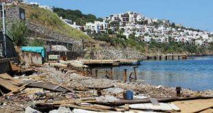 hadise'nin bodrum'da la plaj işletmesini belediye ekipleri yıktı