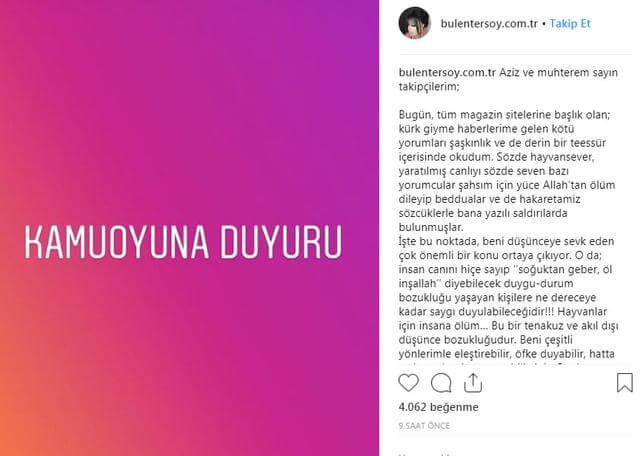 Bülent Ersoy, hakaret dolu mesajlar karşısında bir açıklama yaptı.