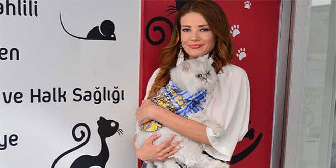 Esra Sönmezer'in kedisi