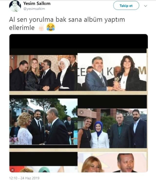 """""""Sen Yorulma"""" Dedi, Ak Partili İsimlerle Fotoğrafını Paylaştı"""