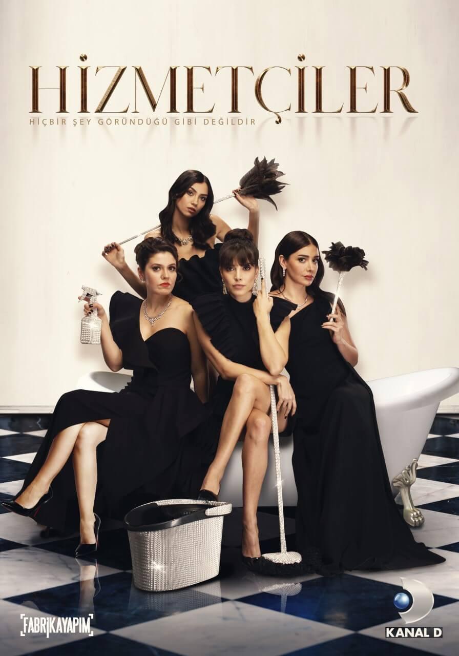 """Türkiye'de """"Hizmetçiler"""" adıyla Kanal D'de ekrana gelecek. Dizinin merakla beklenen afişi yayınlandı."""