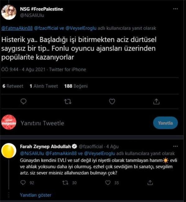 Farah Zeynep Abdullah' ın O Bomba Cevabı